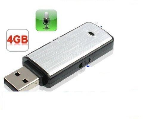 REGISTRATORE VOCALE AUDIO 4GB SPIA CIMICE SPY PENDRIVE VOICE RECORDER Mini Micro PEN DRIVE
