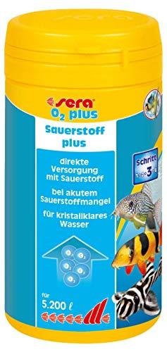 sera (03415) O2 plus 260g zur Sicherung der Versorgung mit Sauerstoff im Aquarium, hilft gegen Gerüche sowie sofort und effektiv bei lebensbedrohlichem Sauerstoffmangel