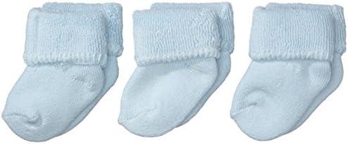 Sterntaler Primeros Calcetines Pack de 3, Edad: a partir de 0 meses, Talla: Recién nacidos (Talla 0), Azul celeste (Azul)