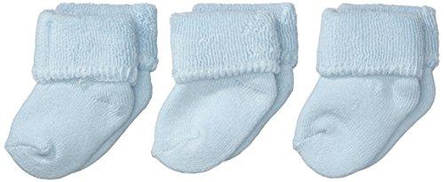 Sterntaler Sterntaler Erstlings 3-er Pack Socken 3-er Pack, Alter: ab 0 Monate, Größe: Neugeborene (HerstellerGröße 0), Hellblau (Bleu)
