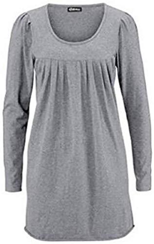 Chillytime Mini Shirt Kleid Grau Meliert Gr. 38