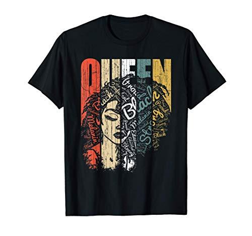 Melanin Shirt for Woman African Queen Strong Black American T-Shirt
