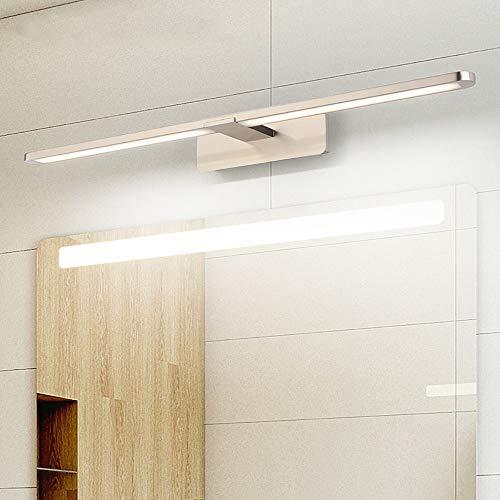 10W LED Spiegel Lamp, Wandmontage, Spiegel Lamp Badkamer IP44, Neutraal Wit 4200K, Badkamer 230V Kast Licht Spiegelkast Beacons,Nickel,10w/60cm