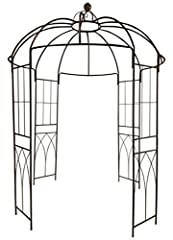 WONDERFUL SHOWCASE. The birdcage shape and four tall side panels make the structure a nice choice for climbing vines like ivy, clematis, wisteria, grape vines, flowers and more — allows them to grow naturally up towards the top. DECORATE IT AS YOU WI...
