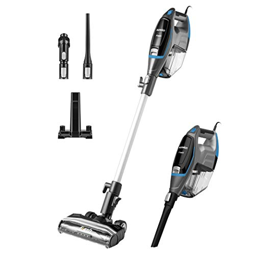 Eureka Flash Lightweight Stick Vacuum Cleaner,15KPa Powerful Suction, 2 in 1 Corded Handheld Vac for Hard Floor and Carpet, Blue