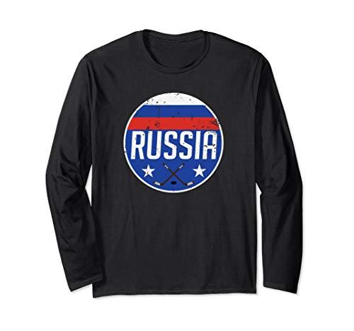 Russia Ice Hockey Flag Jersey Supporter Soviet Fan Gift Langarmshirt