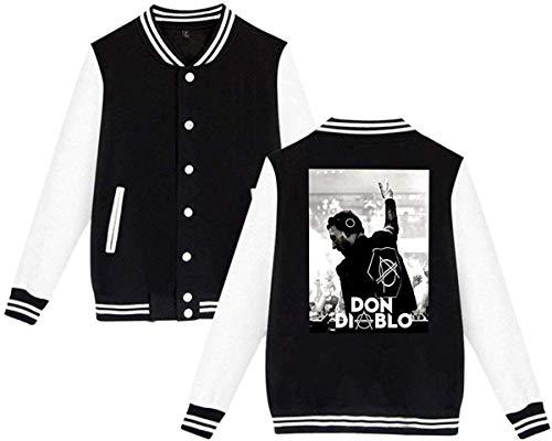 Y15Store Unisex Don Diablo Adults Baseball Uniform Jacket Sport Coat Hoodies Baseballuniform Jacke für Männer Frauen