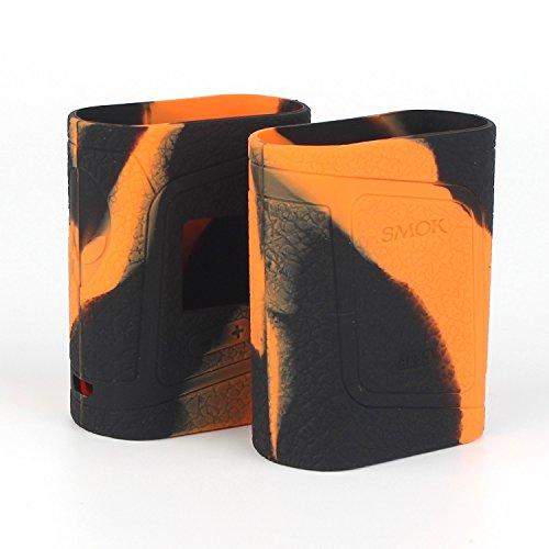 CEOKS per Smok AL85 Alien 85W Gel protettivo per custodia in siliconeImbottitura del manicotto di copertura della pelle di Smok Alien 85w adatta a 85 Watt (Arancione/Nero)