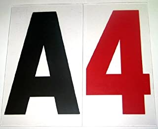 4 inch letters for outdoor signs