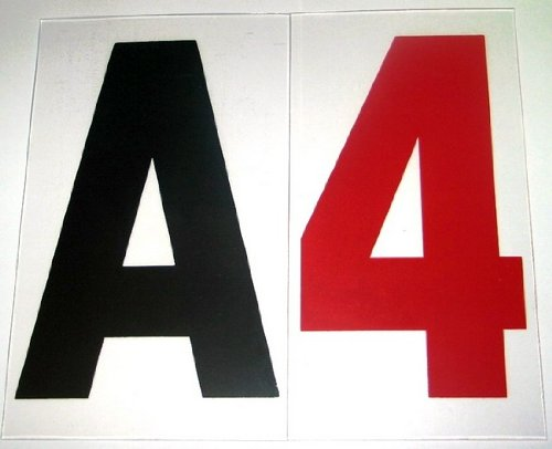 4' on 5 Inch Outdoor Rigid Marquee Sign Letters - 300 Count