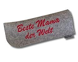 Brillenetui aus 100% Wollfilz Beste Mama