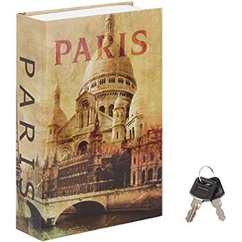 Stash Safe Jssmst Diversion Book Safe with Key Lock, Secrect Hidden Safe Lock Box Large, SM-BS019PN
