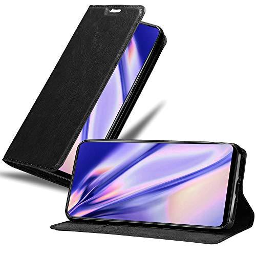 Cadorabo Hülle für Vivo NEX in Nacht SCHWARZ - Handyhülle mit Magnetverschluss, Standfunktion & Kartenfach - Hülle Cover Schutzhülle Etui Tasche Book Klapp Style