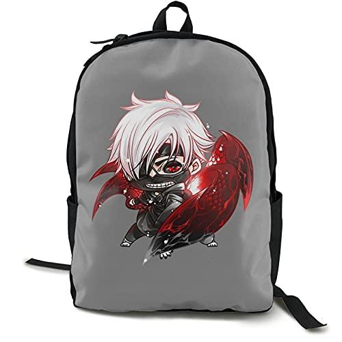 Anime Tokyo Ghoul mochila ligera estudiante simple casual mochila de hombro lavable viaje negocios asistencia durable bolsa