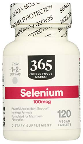 365 by Whole Foods Market, Supplements - Minerals, Selenium 100mcg, 120 Count