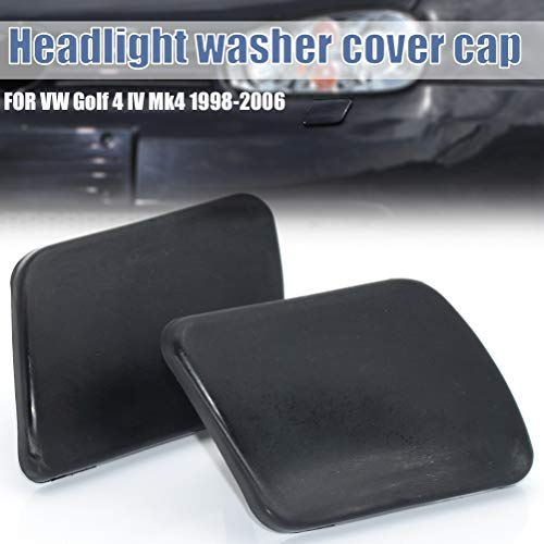 Vorne Scheinwerfer Wasch Sprayer Abdeckung Kappe LR Schwarz Farbe Links + Rechts für Golf 4 IV Mk4 1998-2006 1J0955110A