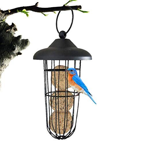 Sysow Support de boules de graisse en métal à suspendre pour oiseaux sauvages