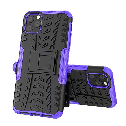 RZL Teléfono móvil Fundas para iPhone 12 Pro MAX 12 Mini, a Prueba de Golpes Rugged Armor TPU TPU Funda de Parachoques Hard PC Stand Cover para iPhone 11 Pro