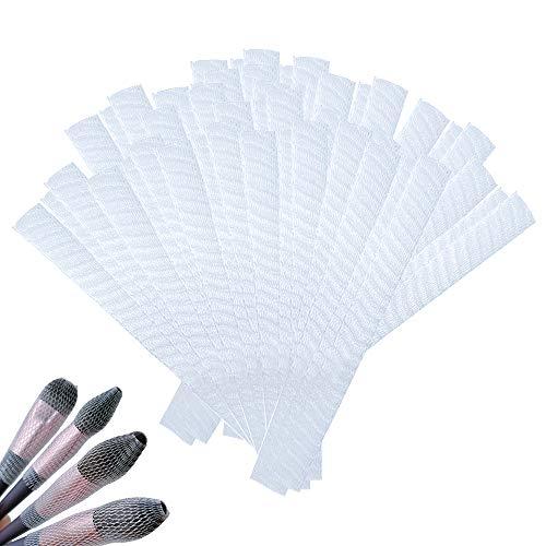 LZYMSZ Juego de 100 fundas para brochas de maquillaje, protectores de brochas de maquillaje, reutilizables, ampliables para almacenamiento de brochas de maquillaje