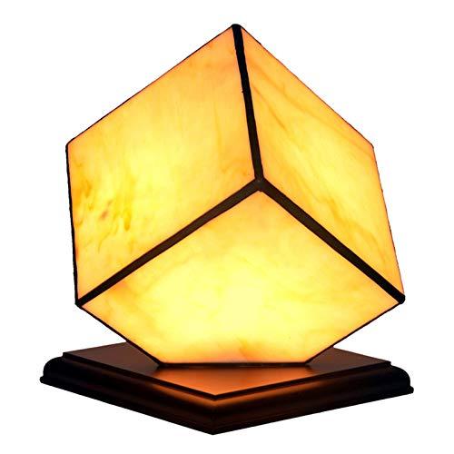 YEHEI Lámpara De Mesa Tiffany Retro con Vitrales, Lámpara De Noche, Mesita De Noche LED, Lámpara para Dormitorio, Sala De Estar, Oficina, Hotel