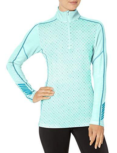 Helly Hansen W HH LIFA Merino Graphic 1/2 Z Camisa Deportiva, Azul (Azul Claro 502), X-Small (Tamaño del Fabricante:XS) para Mujer
