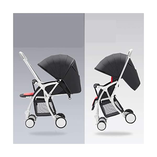 RAPLANC High Landscape Stroller, Lightweight Foldable, 4Seasons Universal, Stereo Shock Absorber, 360-Degree Rotation Function, Color : Green,Black RAPLANC * stereo shock absorber frame structure to prevent your baby from receiving shocks *Widened and extended sleeping basket, spacious, baby activities freely *Four seasons universal /increased storage basket / five-point seat belt 1