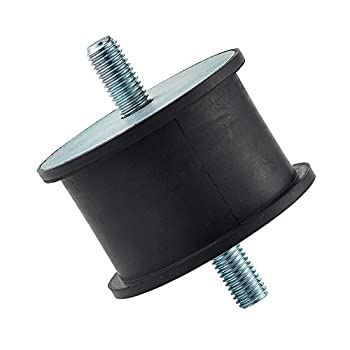 """Rubber Cylindrical Vibration Isolator Mount with 2 Threaded Studs Inch Size,3.15 Diameter 1.97"""" Height 0.47  Thread for Pump,Generator,Engine,Compressor Motors,etc."""