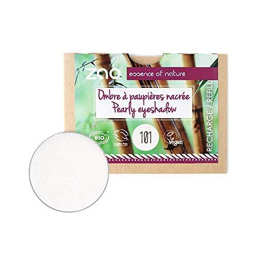 ZAO REFILL Pearly Eyeshadow 101 weiß Lidschatten-Nachfüller schimmernd / Perlglanz ohne Bambus-Dose