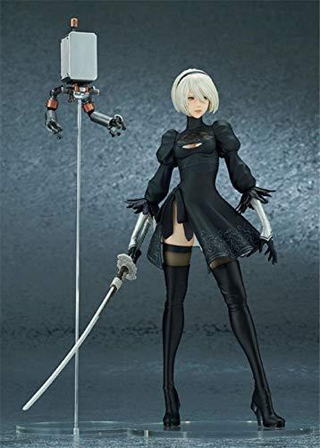 Rqcaxn Nendoroid Link Nier Automata Tipo B 2B Figura de acción Anime Belleza Chica Figuras Adultas PVC Modelo de colección de Juguete Aproximadamente 23 CM