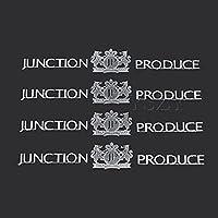 4個JPカーステッカーエンブレムバッジオートドアハンドルデカールジャンクションプロデュースBMWアウディVW日産トヨタホンダルノースタイリング