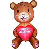 Joiedomi 5 FT Tall Baby Teddy Bear with Heart Valentine Holiday Inflatable Yard Decoration