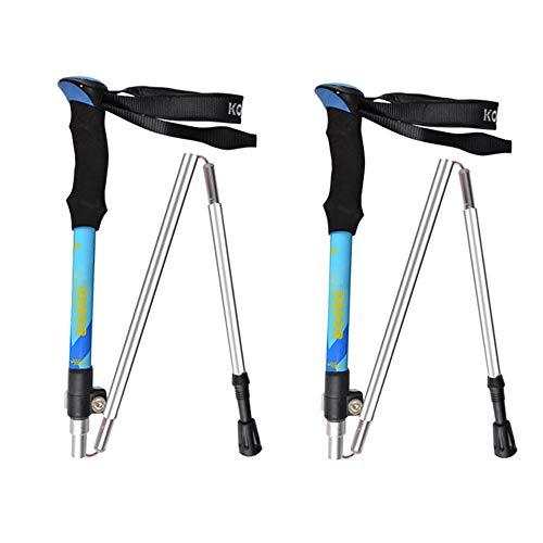 LITTER Wanderstock Nordic Walking Stock - Walking Stöcke Verstellbare Leichtgewichtige Wanderstöcke Aluminium Korkgriff, Trekking Stöcke Damen Und Herren,Blue