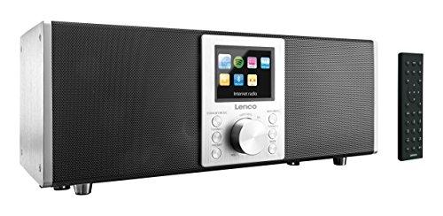 Lenco Concerto Internetradio DIR-2000 2.1 WiFi (8,1 cm (3,2 Zoll), Bluetooth, DAB+, Spotify, Fernbedienung, USB) schwarz