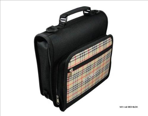 Nieuwe schoudertas voor de Philips PET1002 draagbare DVD-speler van TGC ®, Jet Zwart & Chinzano Check