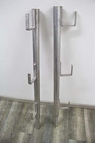 Seitenschutz Alu einseitig, Dachständer Dachbock Aluminium Dachdeckergerüst Dachgerüst Gerüst Dachdeckerstuhl Besengerüst Steildach Flachdach (1 Stück)