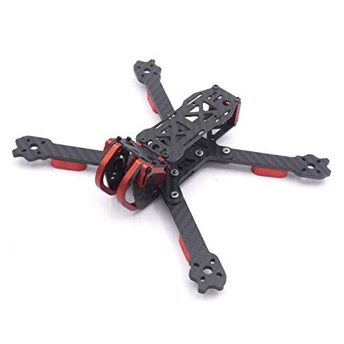 NKIE Accesorios Marco de Drone, Fibra de Carbono de 4 mm 220 mm de 5 Pulgadas FPV Kit de Marco de Carreras Compatible con Dragon HX5 X5 Drone Frame Kit para Drone Fácil de Instalar (Color : X)