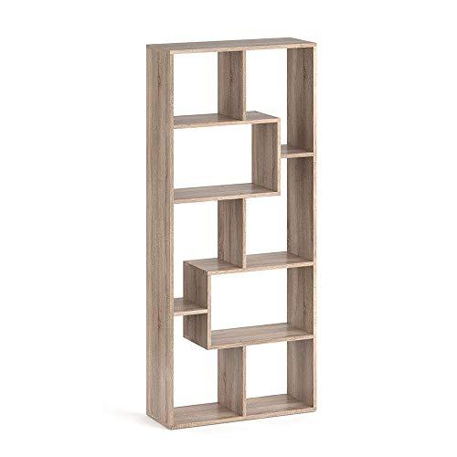 Vicco Raumteiler NOA Bücherregal Standregal Aktenregal Hochregal Aufbewahrung Regal +++Verschiedene Dekore +++ (Sonoma Eiche)