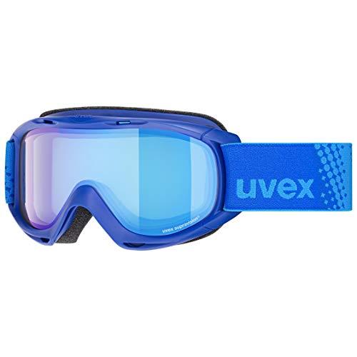 Uvex Slider FM, Maschera da Sci Unisex Bambino, Blue/Blue, Taglia Unica