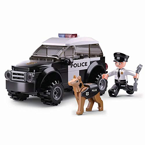 Sluban Kids Creative Building Blocks Set | Imaginative Indoor Games Toys for Kids | Mega SWAT Set, Police Set, Car, Jeep and more (SUV K9 Unit)
