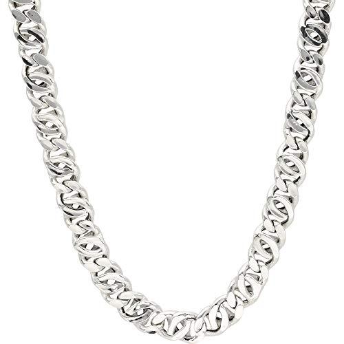 Smart Jewel Collier Rhodiniert, Glanz, Silber 925 Silber, 50 Cm 925 Sterling Silber
