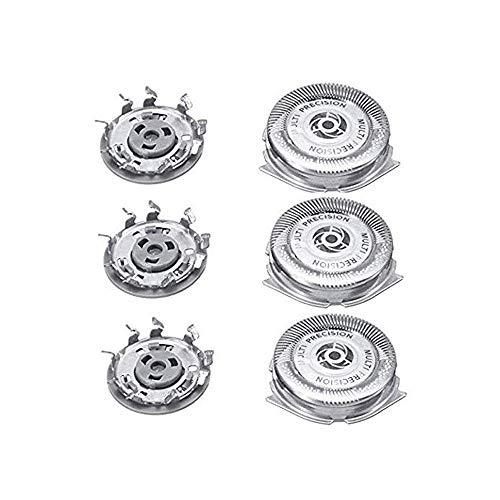 QYHSS Universal Cabezales De Afeitado, para Philips Series 5000 Shaver SH50/52, S5570, S5571, S5572, S5580, S5590, S5600, Repuesto del Cabezal Tres