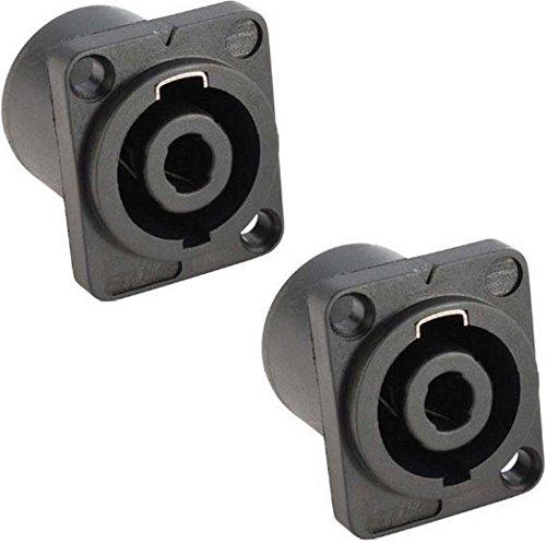 2x Adam Hall 7876 - PA Lautsprecher Einbaubuchse 4-polig, Speaker Lautsprechereinbaubuchse
