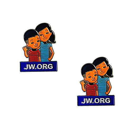 Pin de lapela Tang Song 20 peças JW.ORG Caleb e Sophia Torne-se o broche de amigos e crianças Jehovah