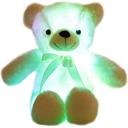 KKPLZZ Nettes LED Bär Kuscheltier Plüschtier, Nettes LED Bär Kuscheltier Kreatives Nachtlicht Schöner Bär Glühen Weiches Plüschtier Geschenke für Kinder Mädchen