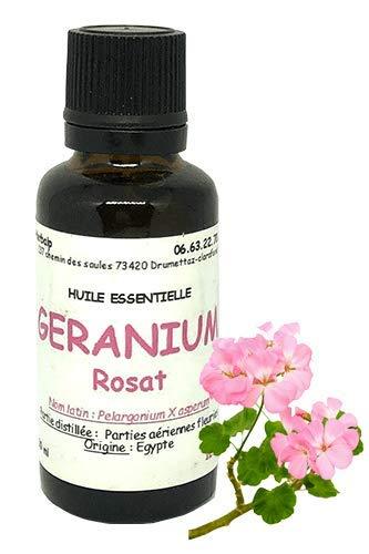 Huile essentielle de Géranium rosat (100 ml) .\