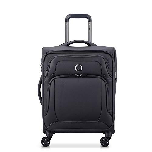 DELSEY Optimax Lite 4 Double Rolls Cabin Trolley Slim Line S Black