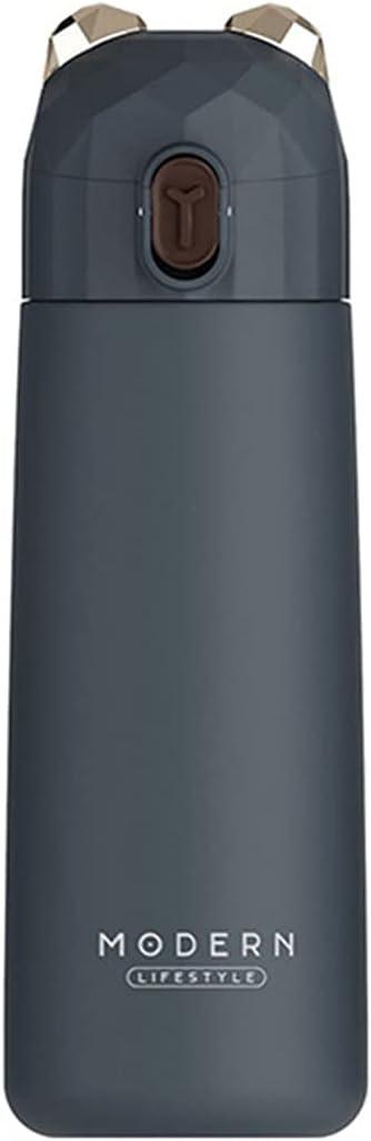 GZA 350 Ml Forma De Oso Termocup Cubierta De Rebote Botella Frasco De Vacío Taza Termal Thermos Thermos Cup 304 Botellas De Agua De Acero Inoxidable (Color : Dark Blue, Size : 350ml)