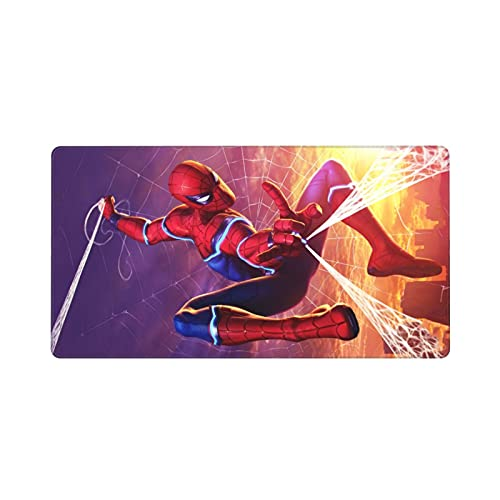 Spider-Man Large Mouse Pad American Superhero Gaming Mouse Pads Non-Slip Rubber Office Big Mouse Pad for Computers Laptop 15.8x29.5 Inches