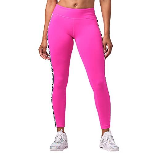 Zumba Fitness Pantalones de deporte de cintura ancha para mujer, Happy Rose, S