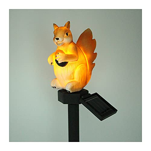 Garden Solar Lights Outdoor, Squirrel Lawn Light with Stake induction lamp courtyard decoration landscape illumination,4 pack